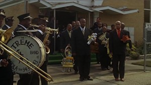 A funeral procession in Treme.