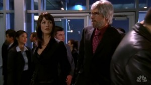 Chuck and Sarah infiltrate spy conference in disguise.