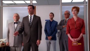 Don tries to reassure the office that everything will be okay.