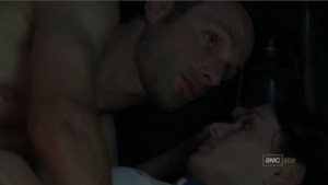 Rick and Lori spend their first night together after being reunited.