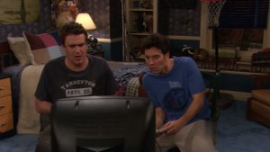 Marshall and Ted play video games