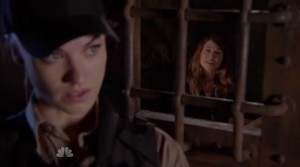 Sarah plays guard, protecting Mary from any real threats.