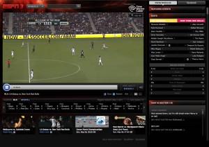 ESPN3 showing LA Galaxy v New York Red Bulls live (5/7/11).