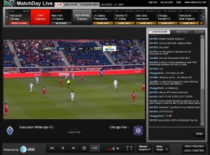 MLS MatchDay Live showing Replay of Chicago Fire v Vancouver Whitecaps (5/7/11)
