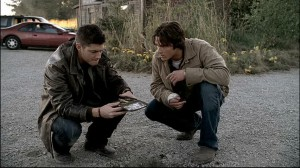 Dean and Sam at the crossroads