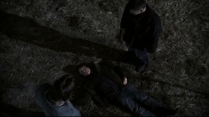 Sam and Dead with the corpse of Azazel