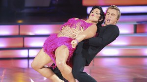 Ricki Lake and Derek dance the jive.