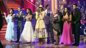 The five remaining couples from Week 8.