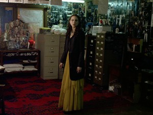Spencer stands in Room 2 at the Lost Woods hotel.