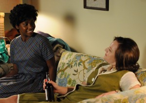 Dawn and Peggy have a late-night talk.